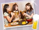 食感のいい、新鮮な味わいの軍鶏とビールで乾杯!
