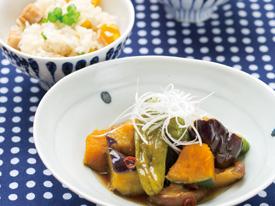 素揚げ野菜の南蛮漬け & 鶏栗ごはん
