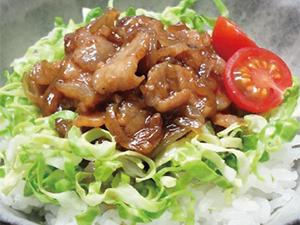 【vol.8】コク&色味をプラスしお手軽どんぶりに 「コクうま豚キャベツ丼」