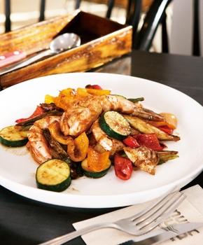 エビと野菜のスパイス焼き