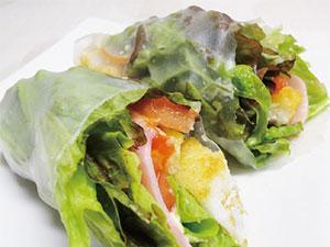 【vol.18】カリカリの甘辛味がたっぷり野菜のアクセント「ぼんち揚で生春巻」