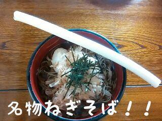箸じゃない?一本ネギで食べる!?@大内宿