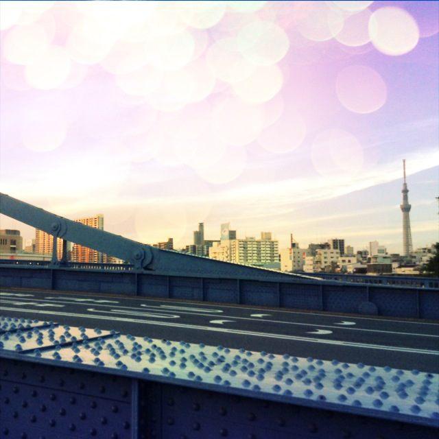 丸ごとまりんぼ☆清洲橋から見たスカイツリー!