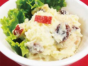 【vol.26】食べ応え満点で朝ごはんにぴったり「リンゴとドライフルーツのポテトサラダ」
