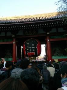 初詣は浅草寺へ