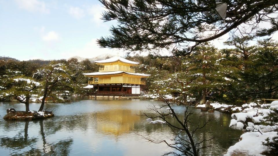 【最近のベスト旅行】真冬の京都 雪化粧の金閣寺