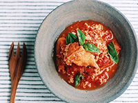 厚揚げのトマトナンプラー煮