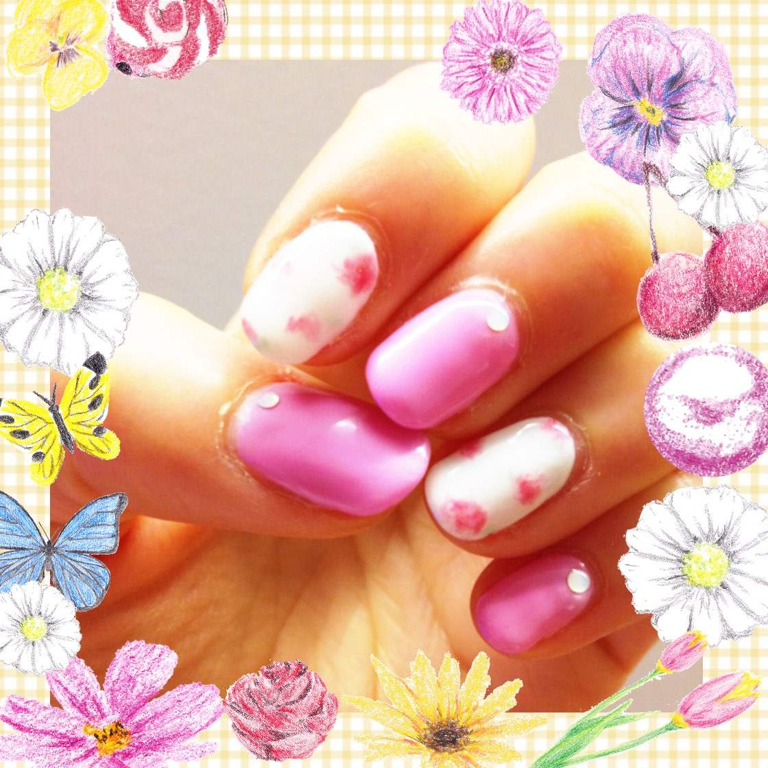 春のお花ネイル♥