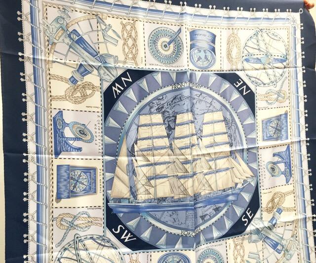 そごう横浜1:横浜OLのマストBUYブルーシリーズのシルクスカーフ