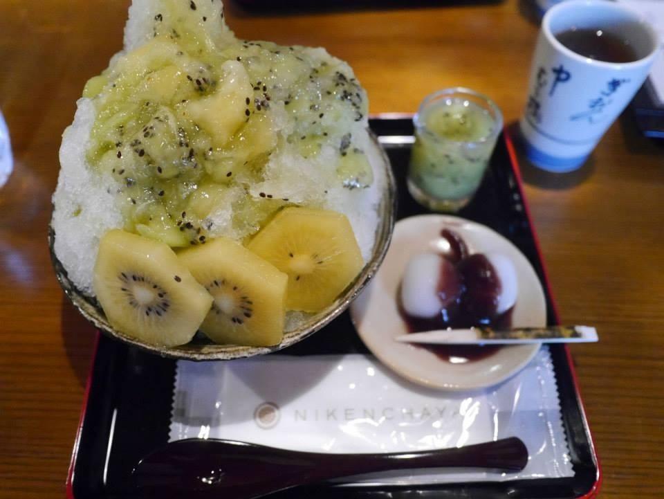 ☆【かき氷】八坂神社からすぐ!二軒茶屋中村楼のフルーツたっぷりかき氷☆