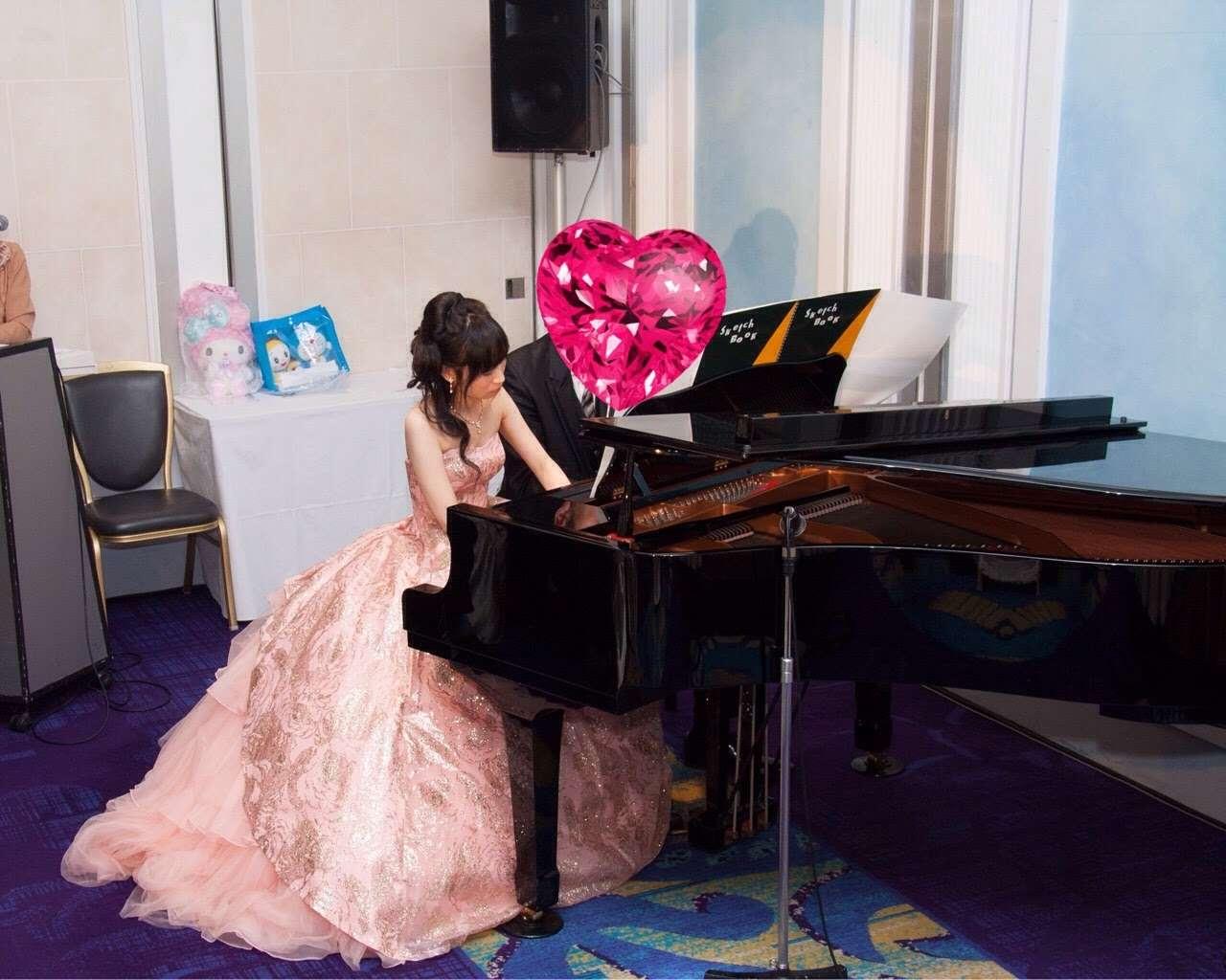 最初で最後の?ピアノ連弾♪Wedding report14