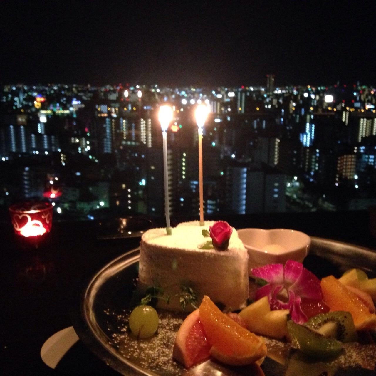 記念日×夜景×コース料理