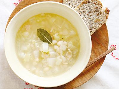 21時からでもOK、簡単ヘルシー料理~白い冬のスープ