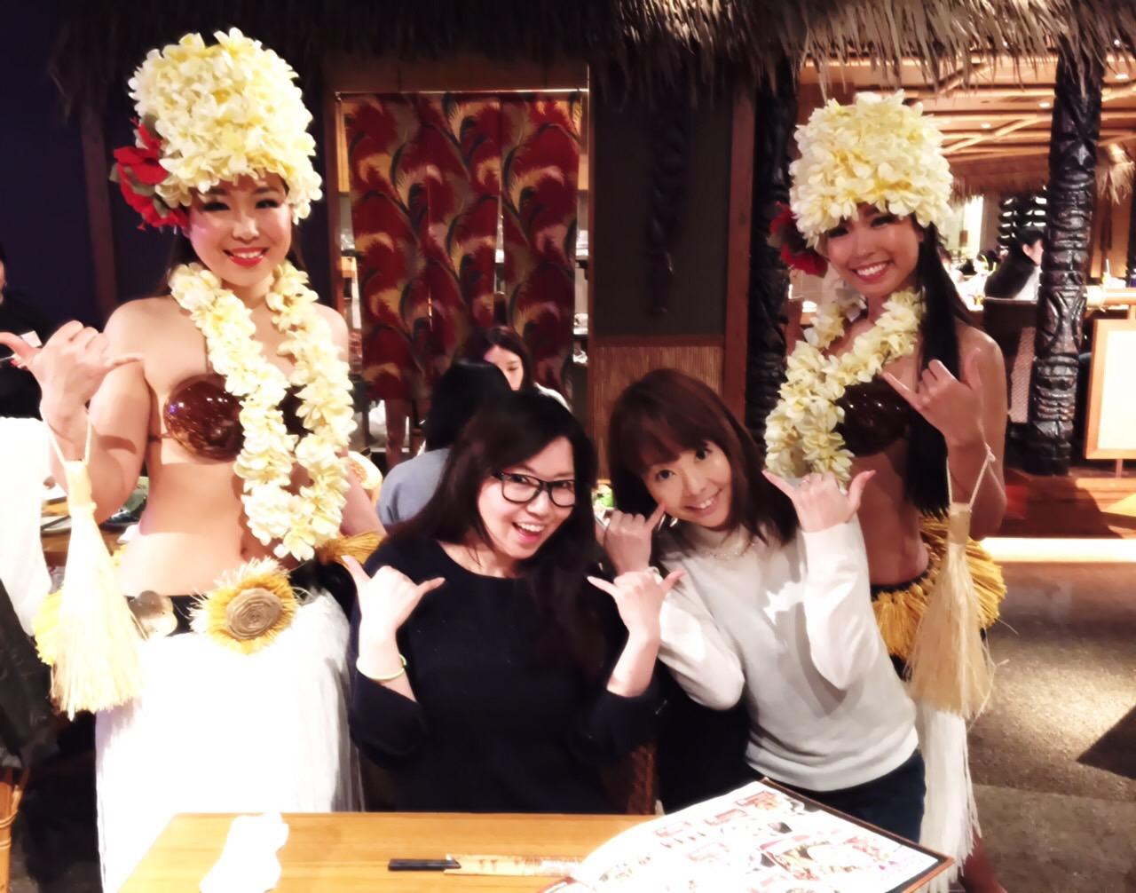 横浜で有名なハワイアンダイニングTikiTiki 生フラダンスショー♪