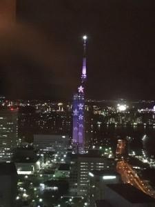 期間限定♡福岡タワーの桜のイルミ