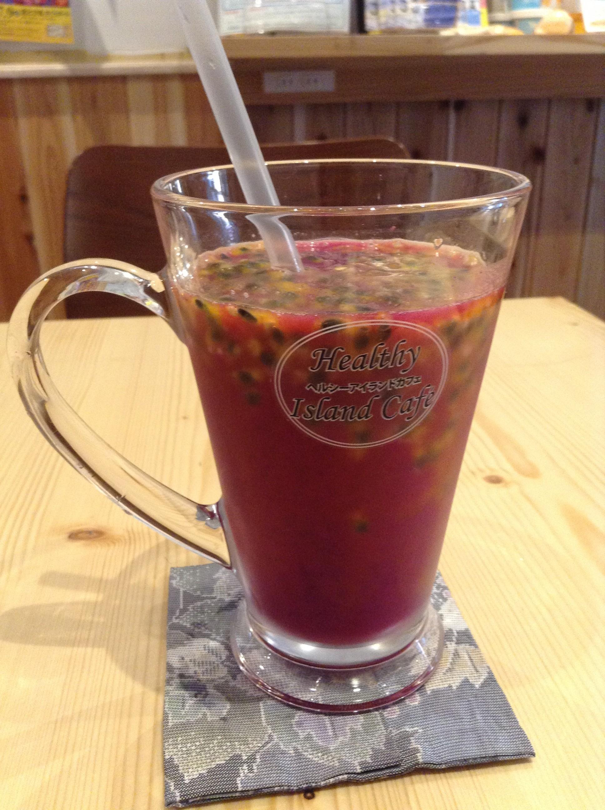 【離島料理】奄美産フルーツのスムージー♪ヘルシーアイランドカフェ恵比寿