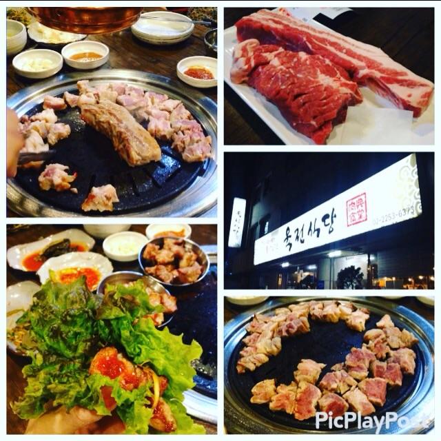 【韓国グルメ旅①】豚 首肉の焼肉 in 肉典食堂