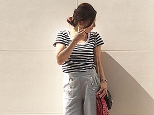 【三尋木奈保のファッションチェック】メリハリ配色でオシャレ上手に