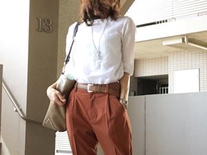 【三尋木奈保のファッションチェック】色とシルエットでトレンド感を
