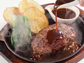 ハンバーグの肉汁がジュワッ! 「キッチンカリオカ」
