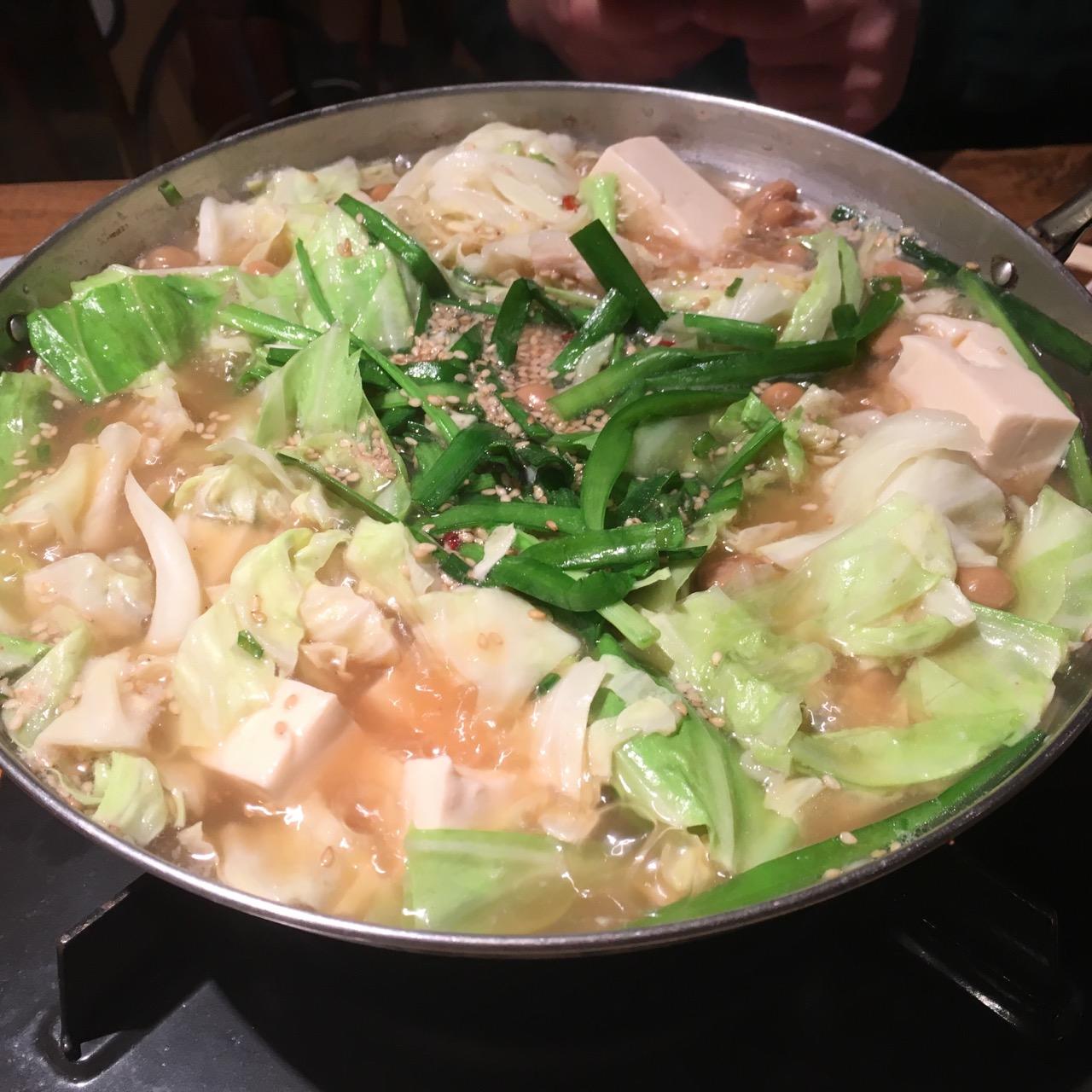 『納豆家 粘ランド』で納豆もつ鍋コースを食べてきました♡