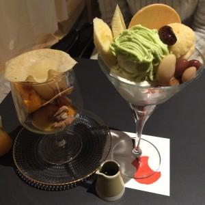 和風テイストのオシャレパフェ☆シメパフェ
