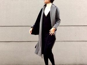 【三尋木奈保のファッションチェック】ロングコートをすっきり着こなす