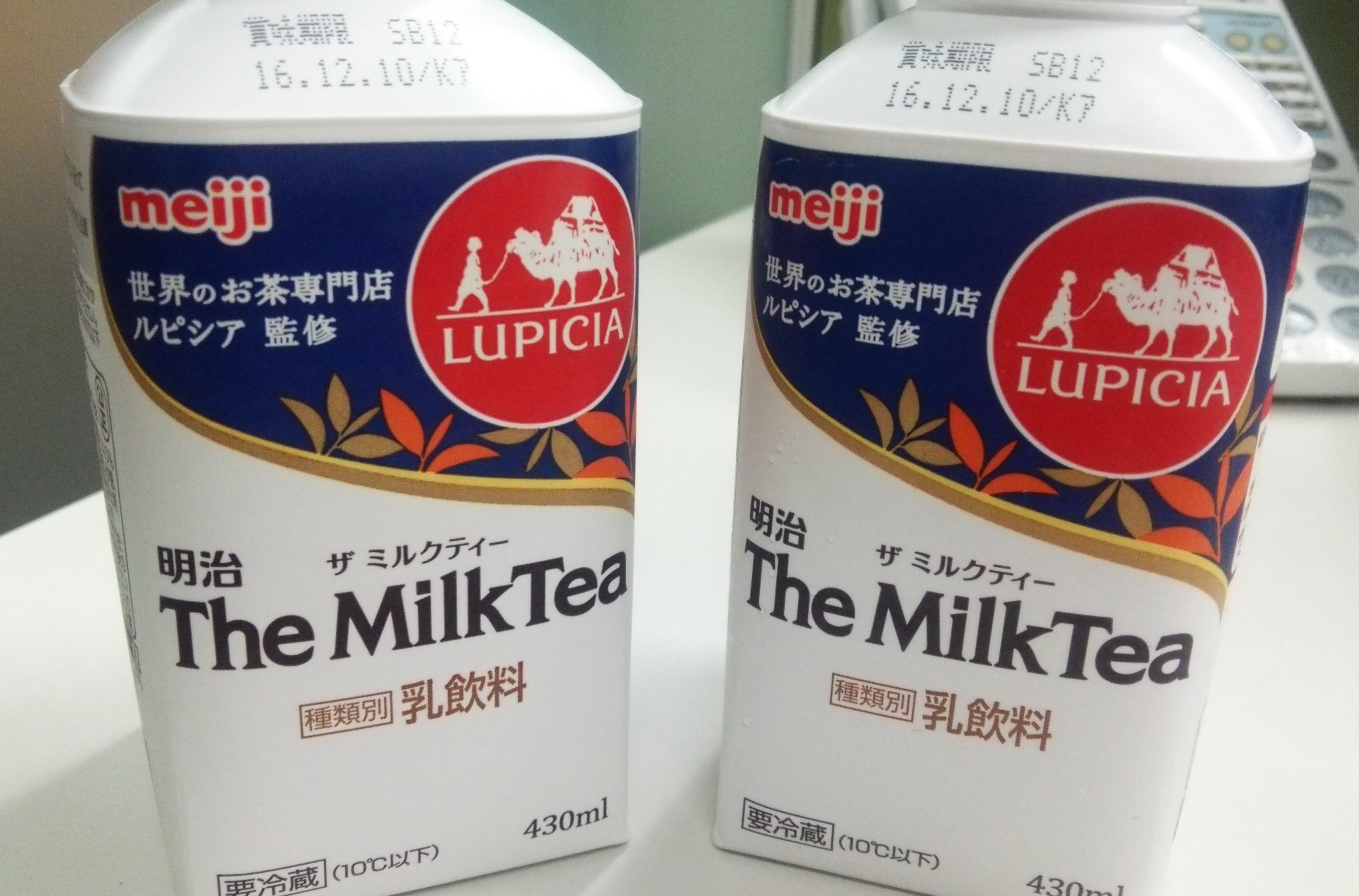 City'sより「明治 The Milk Tea」いただきました ♡