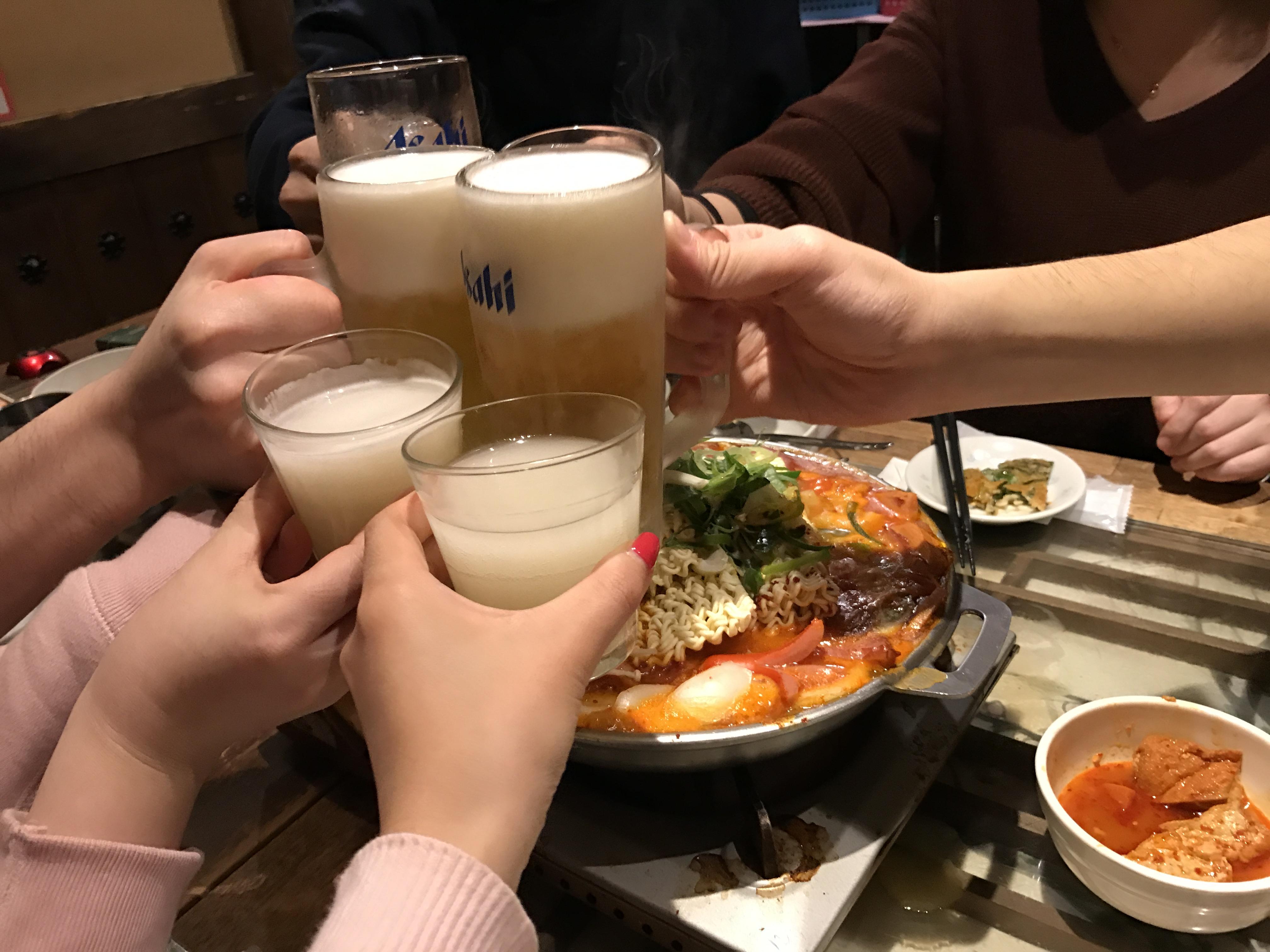 渋谷にある本格韓国料理店で忘年会!