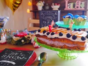 【バレンタイン】パウンドケーキをSNS映えする簡単ネイキッドケーキに♪