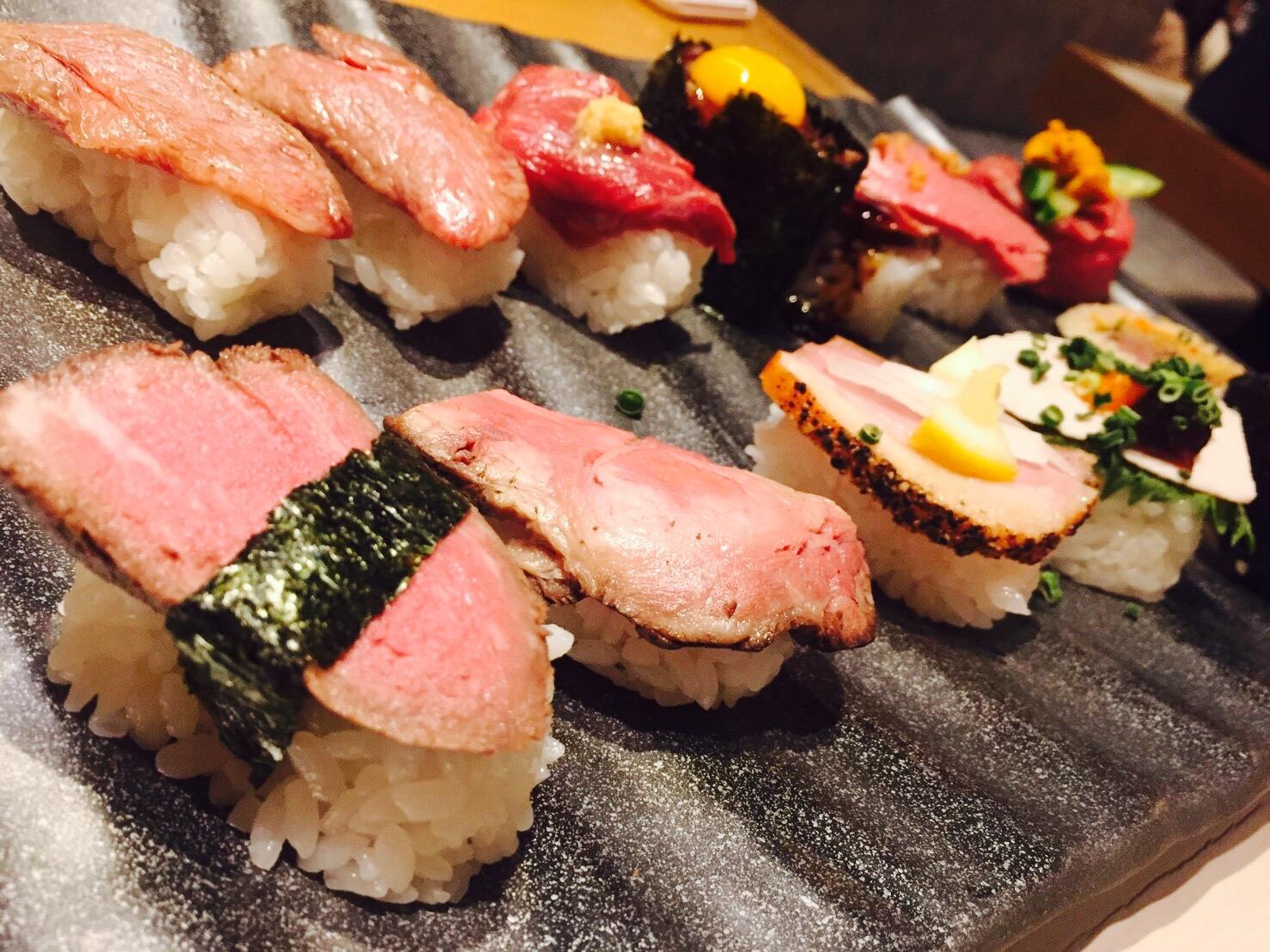 ♡極上肉寿司プレート♡