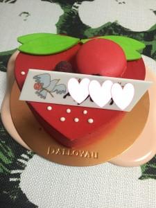 バレンタインにダロワイヨの真っ赤なハートのケーキ♥