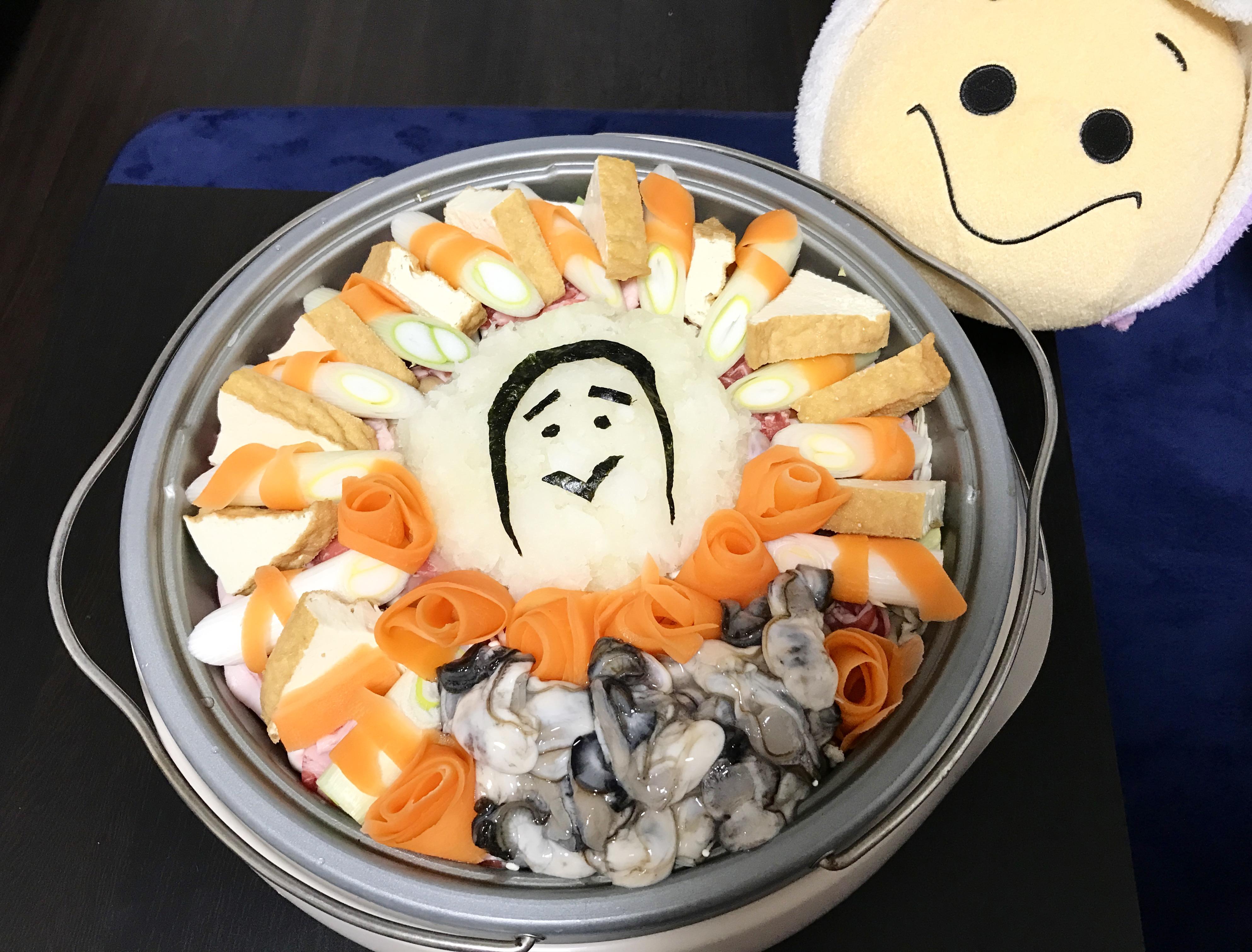 大根おろしアートの牡蠣鍋パーティー!