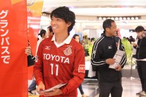 サカエチカに名古屋グランパスの選手、監督が登場!