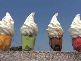 新鮮な牛乳を使ったソフトクリーム 「オーガスタミルクファーム」