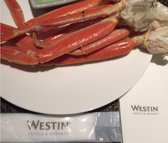ウェスティンホテルでカニ食べ放題!さらに◯◯があるのはここだけ!