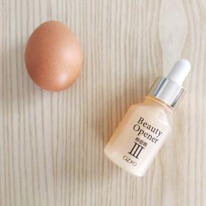 年齢肌には東大と共同開発した卵殻膜エキスの美容液