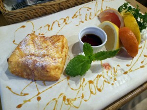 専門店の「王様の卵のフレンチトースト」in天満駅