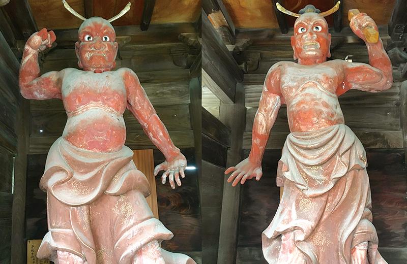 金龍寺にある内側を向いた仁王像...