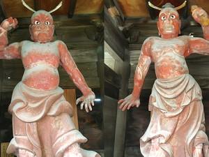 金龍寺にある内側を向いた仁王像
