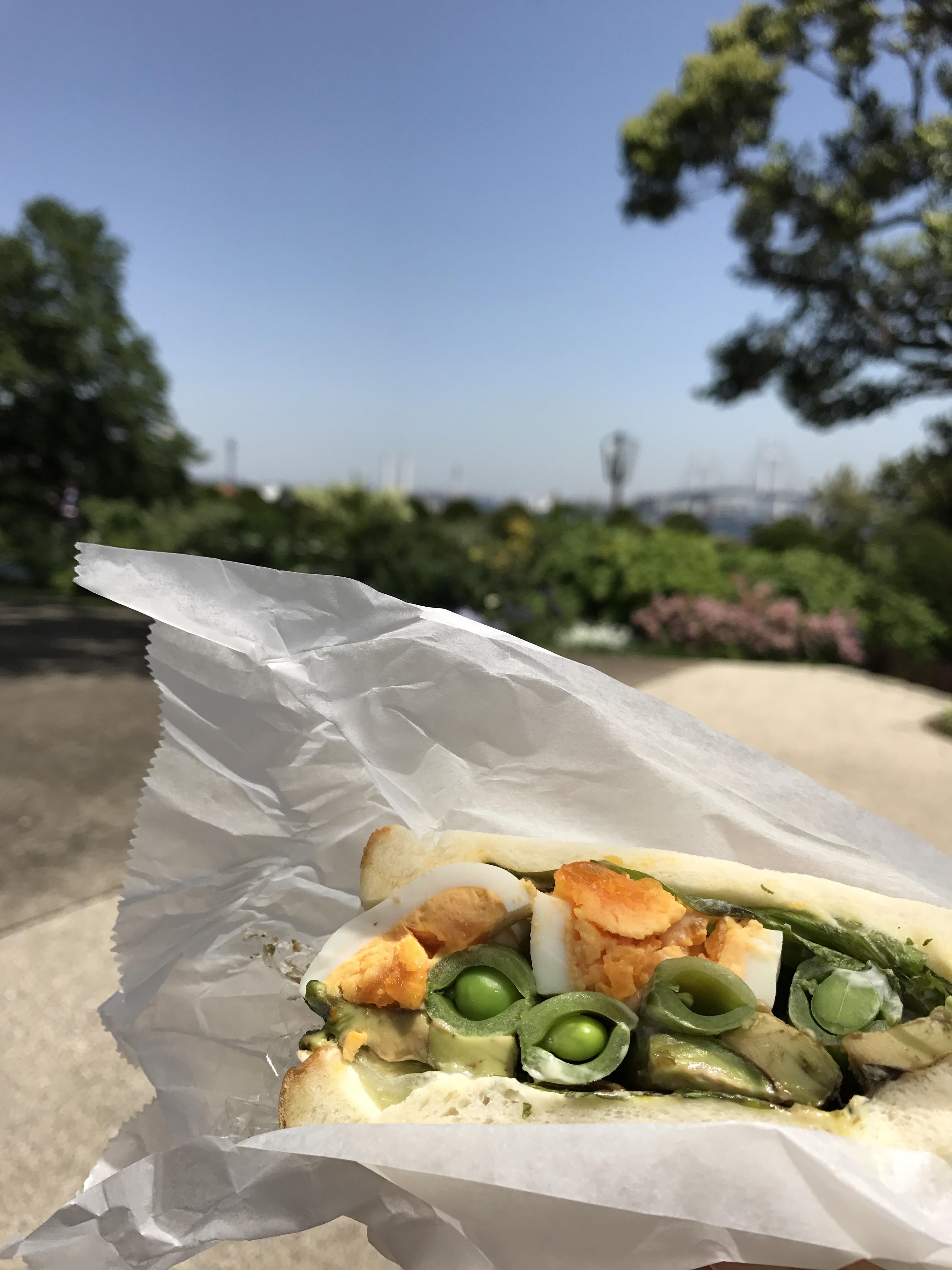 港の見える丘公園で朝食を♡