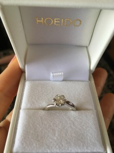 母の思い出の婚約指輪を私の指輪にリメイク♡