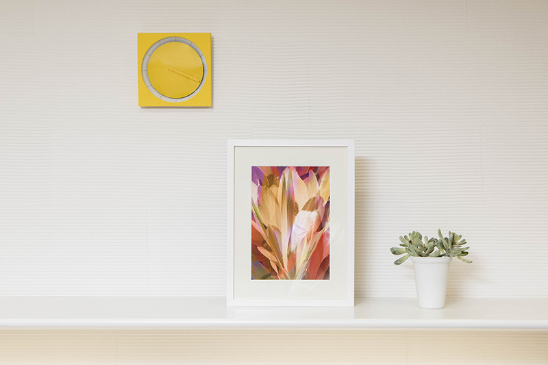 「flower_02」中川淑子 ※表紙右「untitled」新井碧、左「ColorSounds/Flower/秋の夜長」ReikoKamiyama