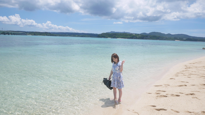 【沖縄旅行②】沖縄で一番キレイな海、古宇利島へ!!美ら海水族館も感動☆