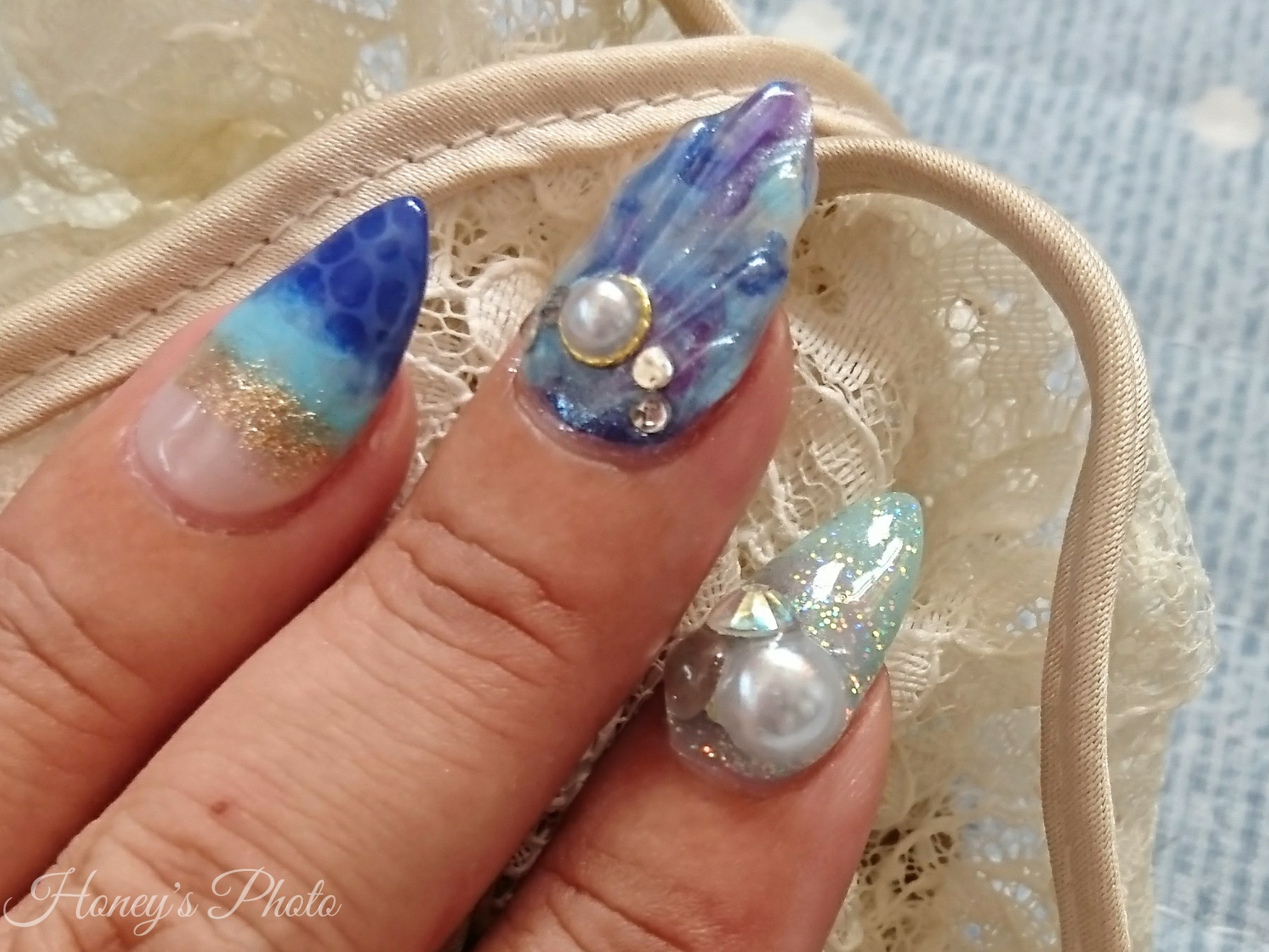 ☆Honey's Nail of July 2017 人魚の鱗☆