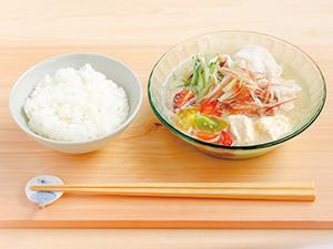 Vol.5夏野菜と豚しゃぶの冷たいみそ汁