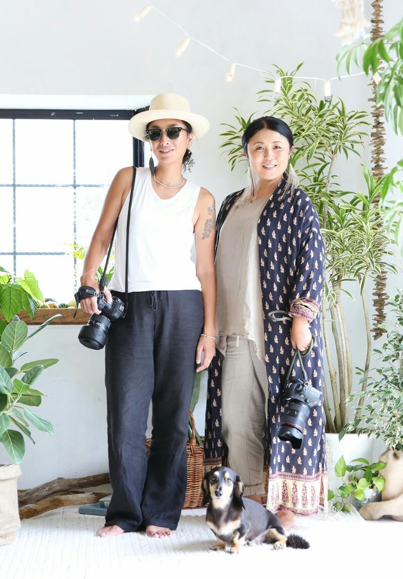 園田咲子さん(左)玉島明見さん(右)
