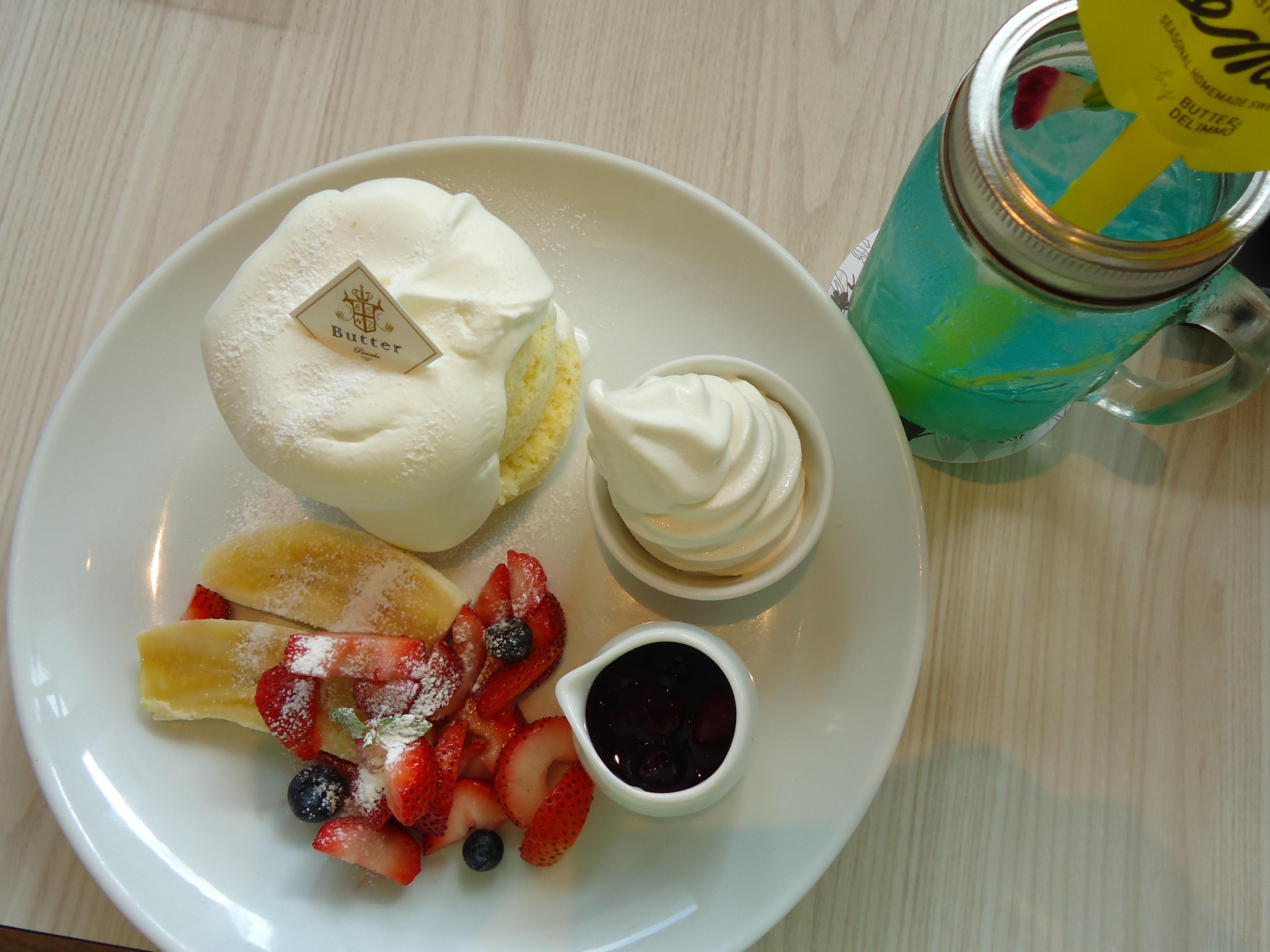 パンケーキ専門店Butter☆ふわっふわ食感&リゾート気分を楽しむ