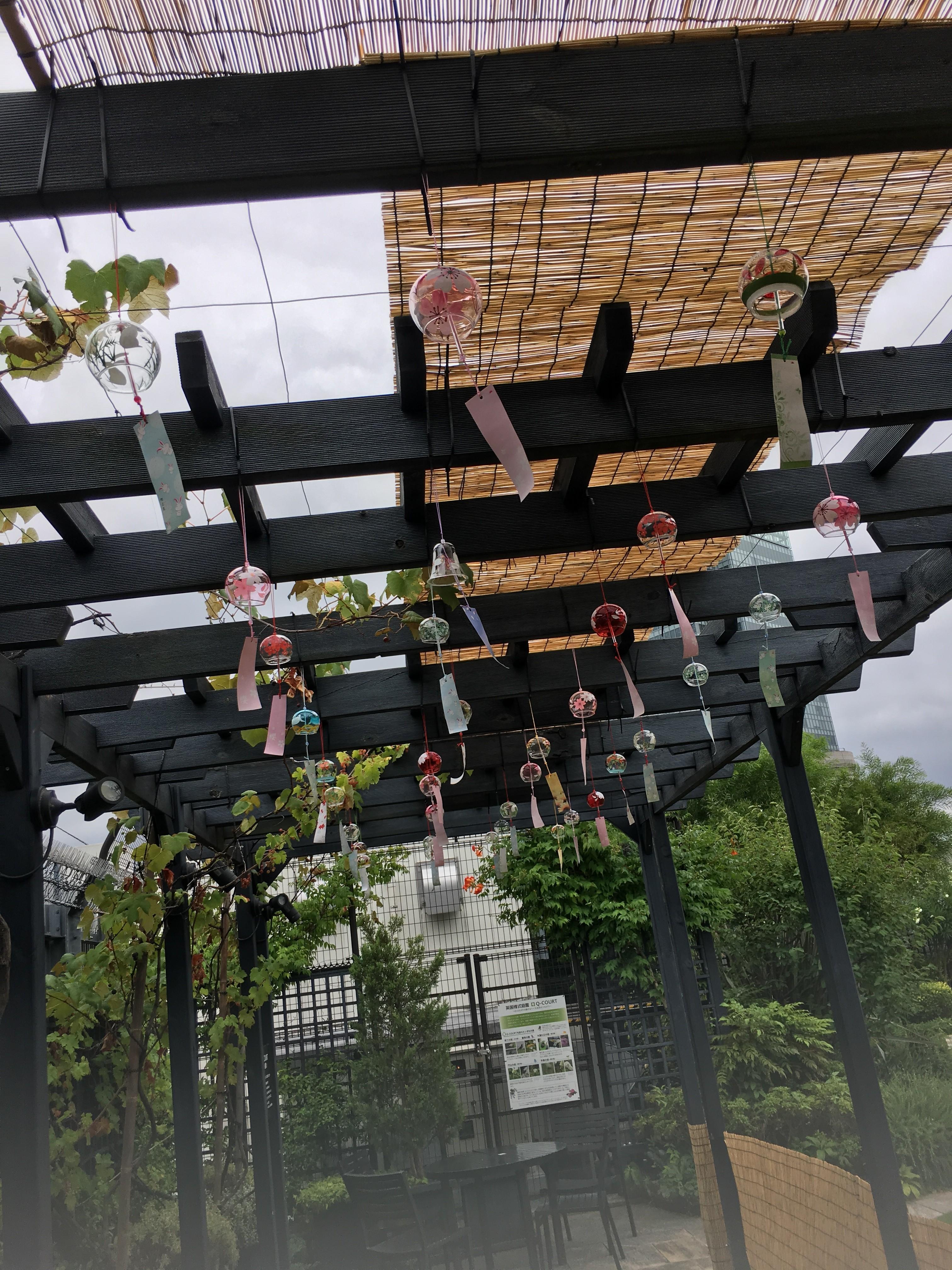 新宿の屋上庭園