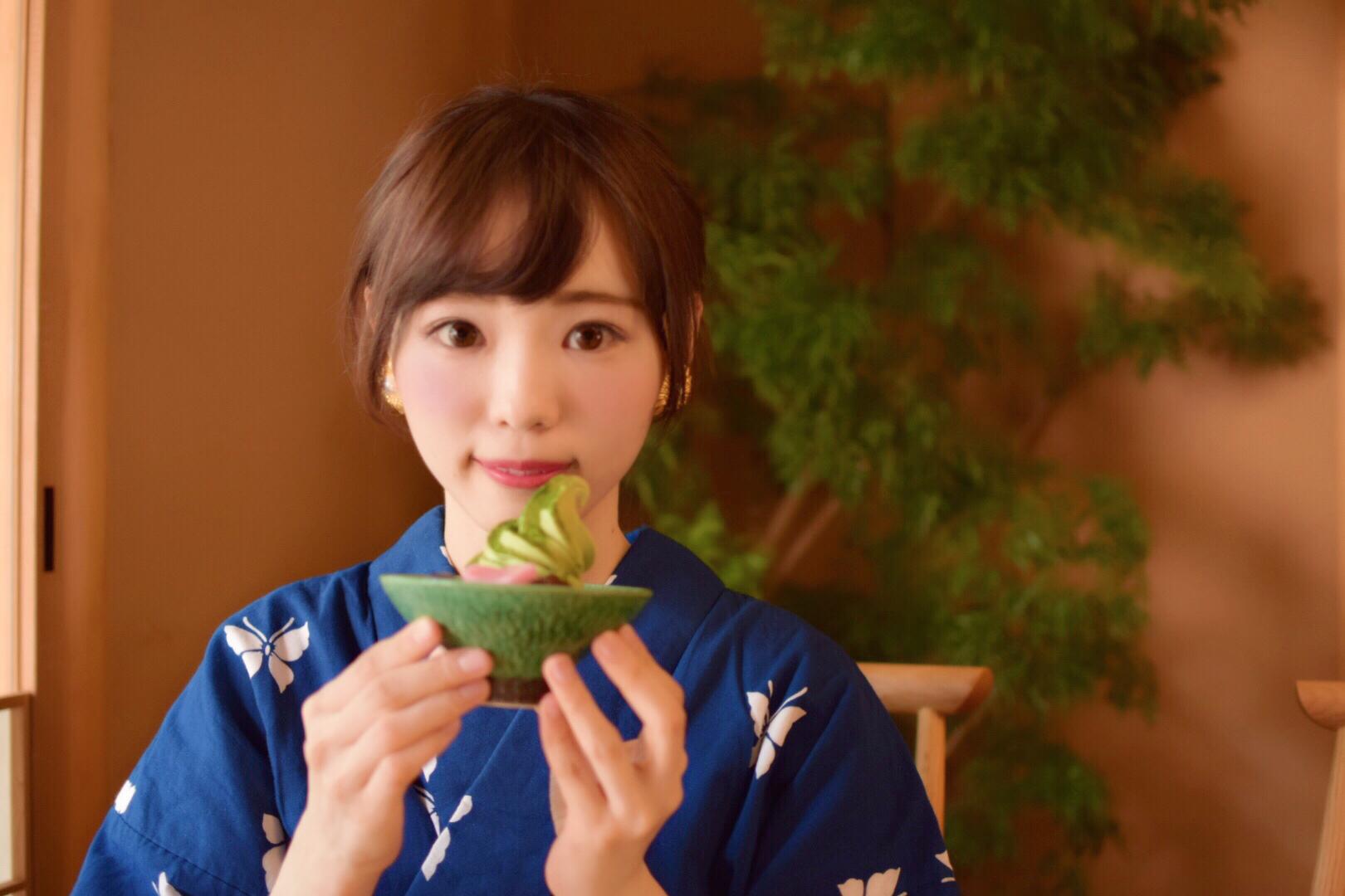 京都~清水までの間で寄り道~和カフェ濃ゆい抹茶アイス